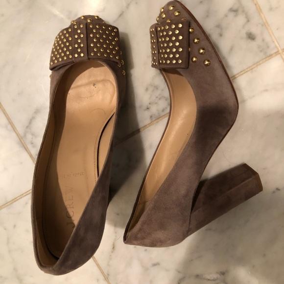J. Crew Shoes - Women's J Crew gold studded heels